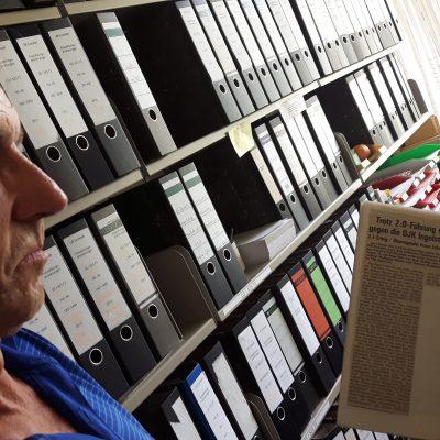Ausschnitte alter Spielberichte, Franz Eckstein hat sie gesammelt.